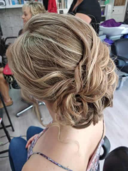 peluqueria para bodas Madrid semirecogido