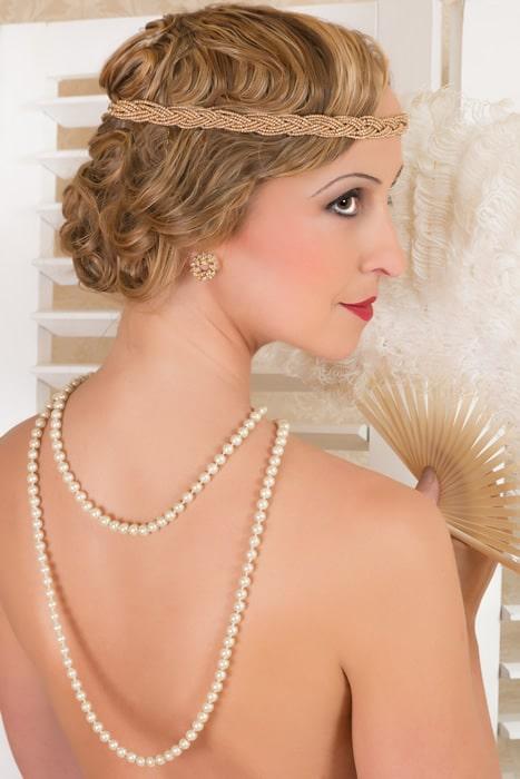 Collares de perlas estilo años 20