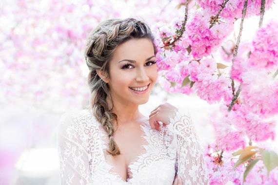 Peinados de novia con velo largo