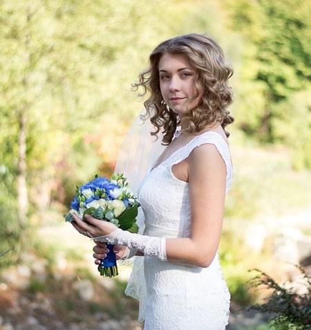 peinados novia con melena suelta