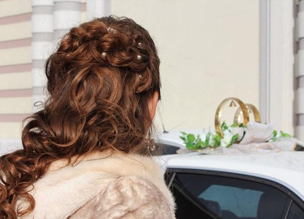 Peinados para novia semirecogidos