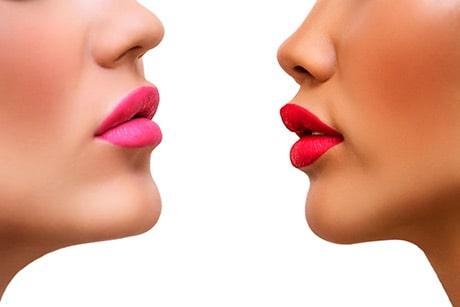 maquillaje de labios para novias con cabello rubio