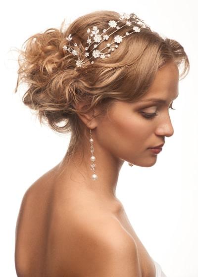 peinado novia con con corte pixie