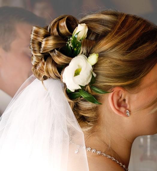 moños bajos de novia